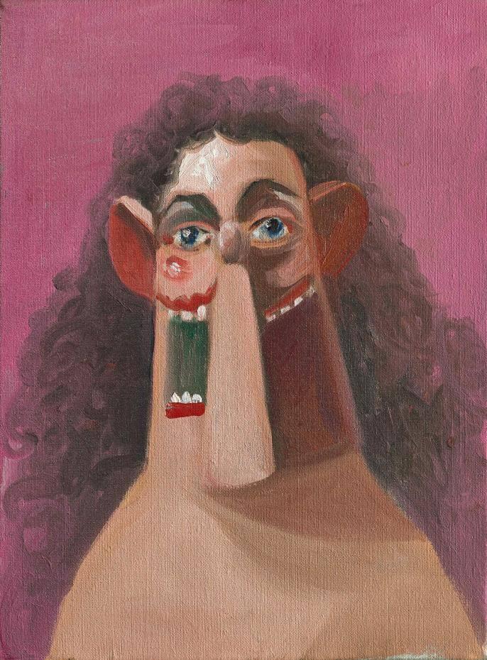 喬治‧康多(George Condo),《少女》(Young Girl),2007。圖/蘇富比提供。