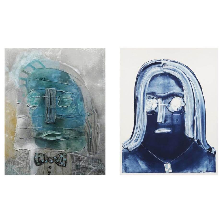 Tyson Reeder(左)與Nicole Eisenman(右)的作品。圖/Instagram。