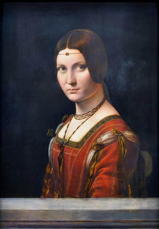 李奧納多.達文西,《美麗的費隆妮葉夫人La Belle Ferronnière》。圖/取自WIKEMEDIA。