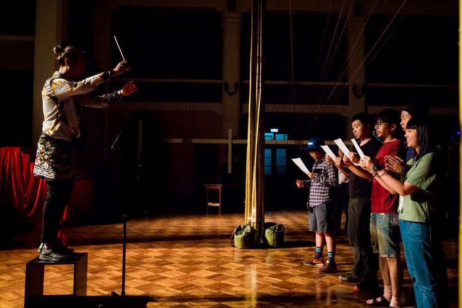 《山高流水之空中》表演片段。圖/臺北表演藝術中心提供。
