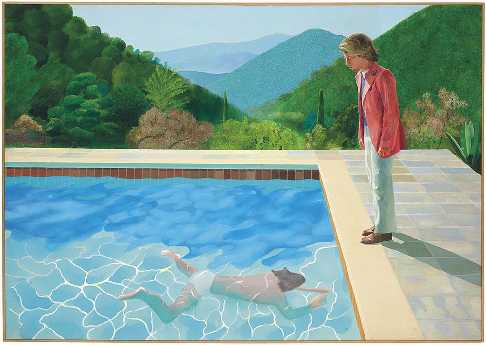 大衛•霍克尼(David Hockney),《Portrait of an Artist (Pool with Two Figures)》,1972。圖/佳士得提供。